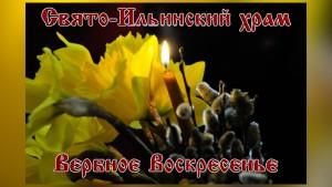 Евпатория. Свято-Ильинский храм. Вербное Воскресенье